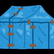 ビニールシートの家