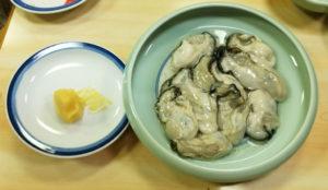 牡蠣鍋の牡蠣