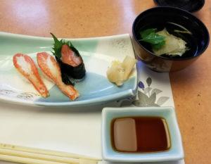 かに会席 お寿司
